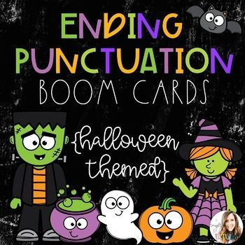 Ending Halloween 2020 Ending Punctuation BOOM Cards Halloween Themed in 2020