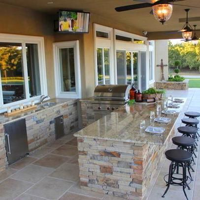 Dream House Modern Outdoor Kitchen Backyard Patio Designs Patio Design
