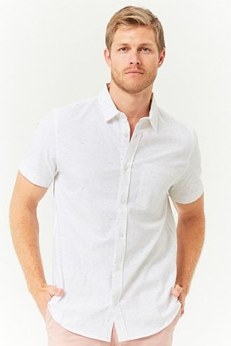 Marled Short Sleeve Shirt Mens Tops Men Casual Latest Trends