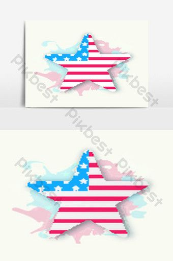 American Flag Color Star For 4th Of July Png Images Eps Free Download Pikbest In 2020 American Flag Colors Colour Star Flag Colors