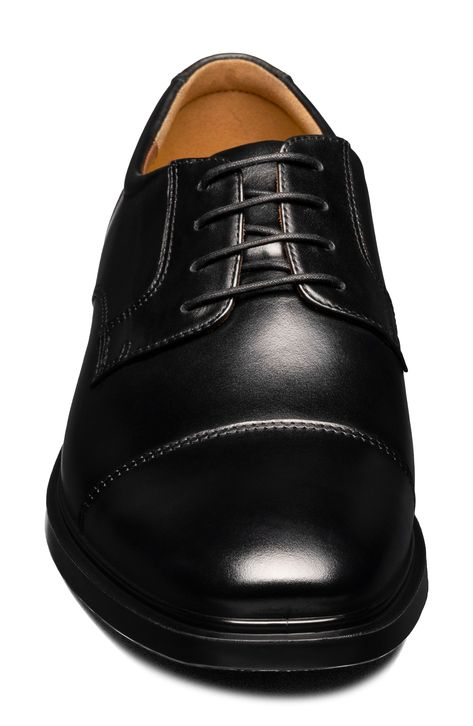 A classic cap toe distinguishes a derby crafted for the elements with waterproof construction, signature Comfortech cushioning and a grippy rubber sole. Style Name:Florsheim Forecast Waterproof Cap Toe Derby (Men). Style Number: 6119233. Available in stores.