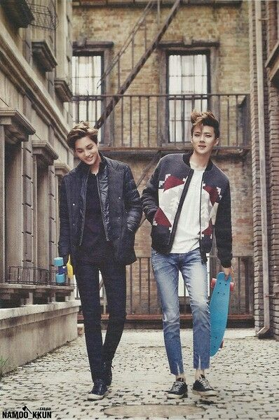 EXO | KAI and SEHUN. My two fave lads with penny boards! X