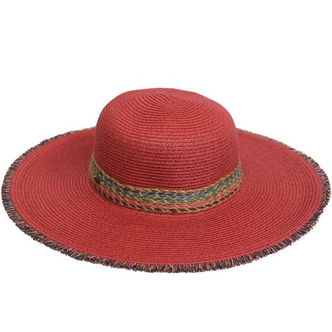 68d9e390485 Summer Brim Hat With Colorful Braided String (ST-306)