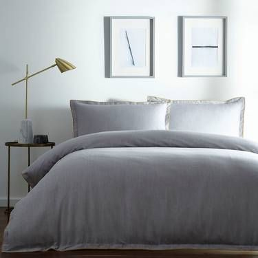 J By Jasper Conran Light Grey Cotton Hem Duvet Cover Debenhams Light Grey Duvet Covers Gray Duvet Cover Duvet Covers