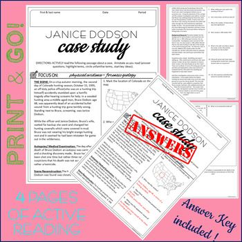 Active Reading Case Study Janice Dodson Physical Evidence Forensic Geology Case Study Forensics Distance Learning