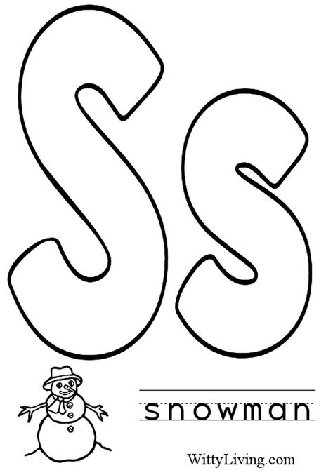 Learning Letter S Coloring Abc39s Free Coloring Pages For Kids ... | 677x474