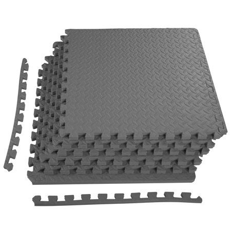 Everyday Essentials 3 4 Thick Flooring Puzzle Exercise Mat With High Quality Eva Foam Interlocking Tiles 6 Piece 24 Sq Ft Walmart Com Interlocking Tile Mat Exercises Rubber Floor Tiles