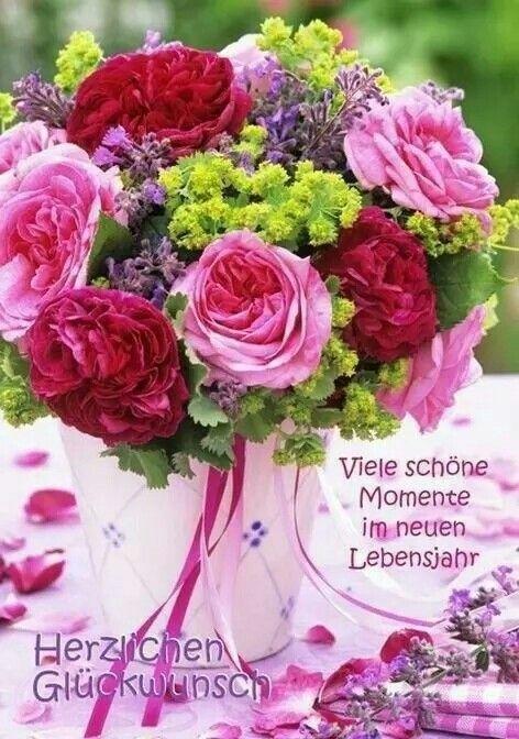 Gluckwunsch Geburtstag Geburtstag Bilder Blumen Kostenlose