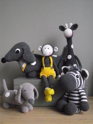 crochet animals - love these!