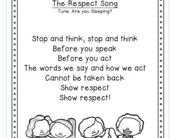 Think Before You Speak Respect Poem Coloring Page Respect Song