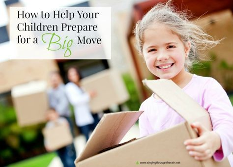 How to Prepare Your Children for a Big Move - Whether you are a military family planning to PCS this summer or a family who is just planning a move, these tips are perfect to help any child through a big move!