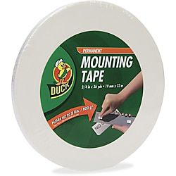 Duck Brand Double Sided Foam Mounting Tape 3 4 X 1 296 White