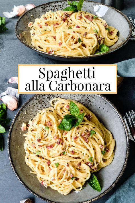 Sattmacher! Rezept: Spaghetti Carbonara, ganz klassisch, ohne Sahne.
