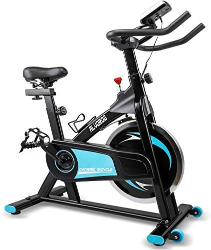 Beautiful Alvorog Indoor Exercise Bike Stationary Cycling Bike With Lcd Monitor Quiet Smooth Belt Drive Syste Indoor Bike Workouts Biking Workout Bike Training
