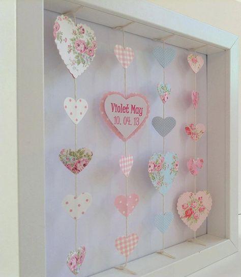 Personalised Heart Frame : Gift for little by LittleLoveliesCraft