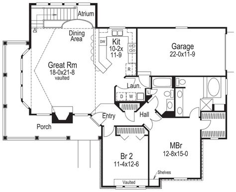 House Plan 5633 00370 Country Plan 1 922 Square Feet 2 Bedrooms 2 Bathrooms House Plans How To Plan Cottage House Plans
