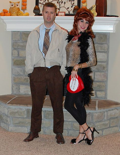 Al and Peg Bundy Halloween Costume.haha to bad my hubby won't dress up anymore!
