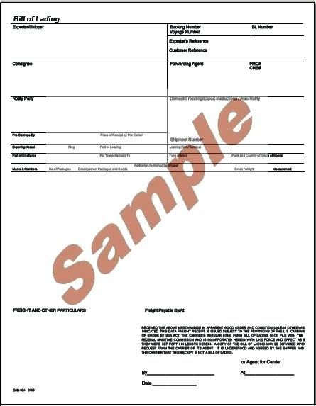 Bill Of Lading Forms Templates In Word And Pdf Bill Of Lading