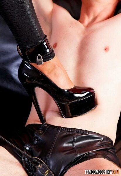 Teen in high heels having sex