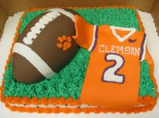 Tiger Stripe One Tier With Tiger Paw Cakes Pinterest Tiger - Clemson birthday cakes