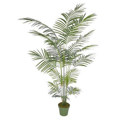Artificial Areca Palm Tree Floor Silk Plant In Planter Artificial Plants Decor Silk Plants Potted Trees
