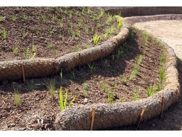 Biodegradable Matting And Mesh For Erosion And Sediment Control From Arborgreen Sloped Garden Lake Landscaping Mulch Landscaping