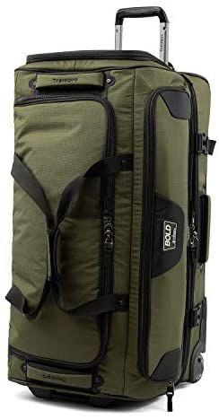 Travelpro Bold Drop Bottom Wheeled Rolling Duffel Bag Olive Black 30 Inch Travel Duffels Rolling Duffle Bag Duffel Bag Travel Bags
