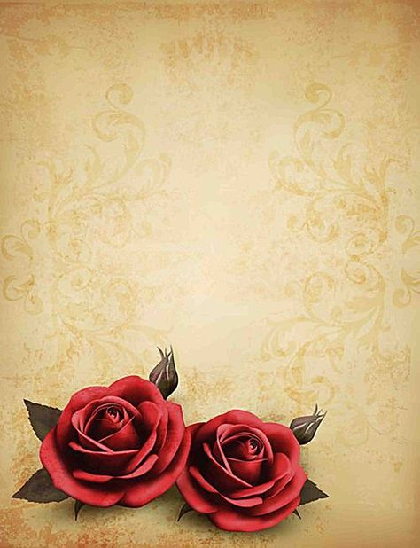 Vintage rose yellowed background
