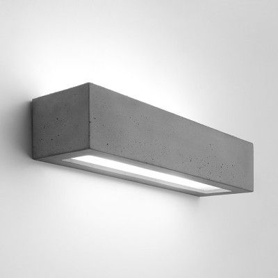 Edit Compact Up Down Wall Light Concrete In 2020 Up Down Wall Light Wall Lights Fluorescent Lamp