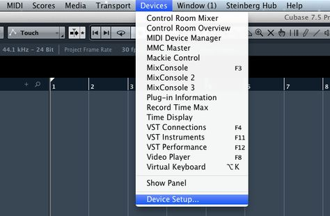 Setting Up Steinberg Cubase / Nuendo for KOMPLETE KONTROL