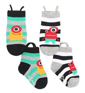 EZ socks makes socks that are easy to pull up, helping kids with low muscle tone and fine motor issues dress independently.