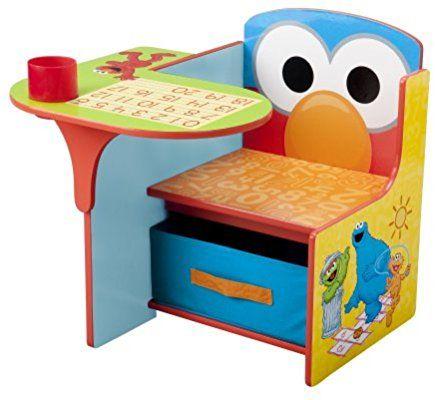 Amazon Com Delta Children Chair Desk With Storage Bin Sesame Street Baby Storage Chair Toddler Desk Toddler Chair