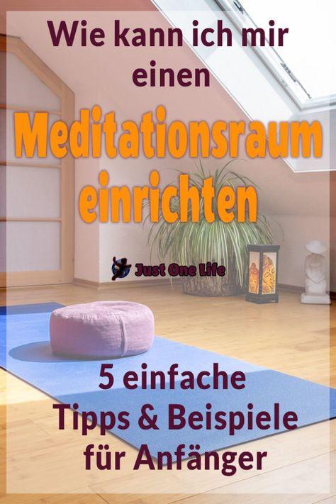 Wie kann ich mir einen Meditationsraum einrichten (mit
