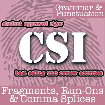 Csi Fragments Run Ons Comma Splices Canada Theme Distance Learning Prepositional Phrases Review Activities Nouns And Verbs