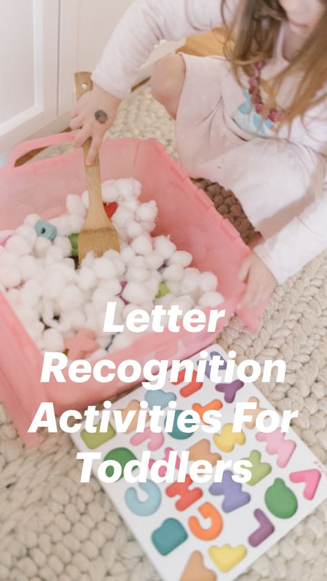 Letter Recognition Activities For Toddlers