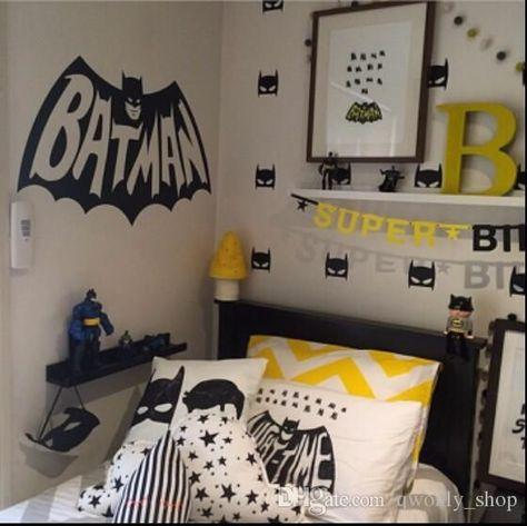 Super Hero Batman Mask Wall Stickers Baby Nursery Children Bedroom
