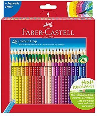 Faber-Castell Buntstifte Grip Set Colour Grip 12er+2 Connector Filzstifte Stifte