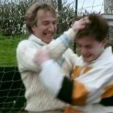 Exclusive unseen pic: Daniel Radcliffe & Alan Rickman (FB.com/DanielJacobRadcliffeFanClub) - Daniel Radcliffe Photo (38695077) - Fanpop