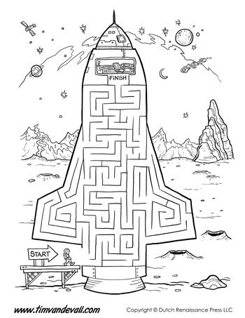 Rocket Ship Maze: Make your way up into the driver's seat of the