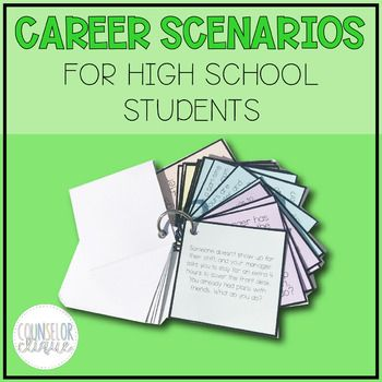 This Product By Counselor Clique Is Career Scenario Cards For High School Students This High School Caree High School Students High School School Transition