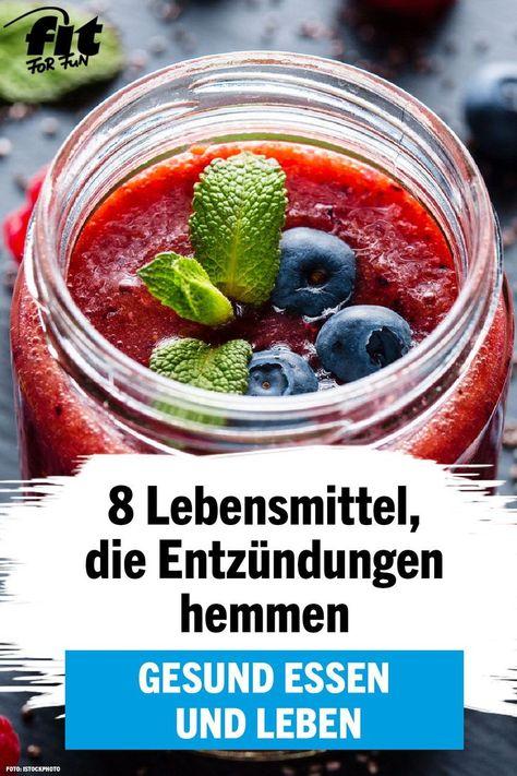 Gesund essen: 8 entzündungshemmende Lebensmittel