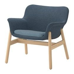 Vedbo Fauteuil Gunnared Bleu With Images Ikea Armchair Small Chair For Bedroom Fabric Armchairs