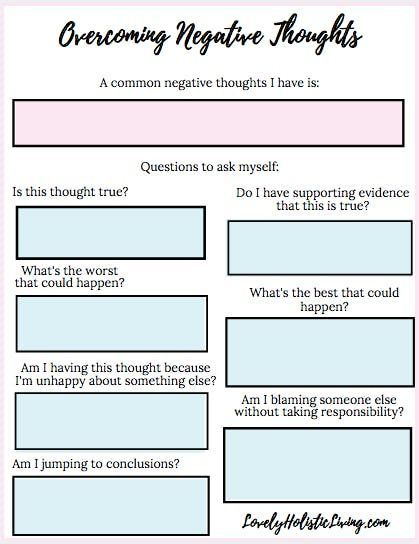 Pin On Mommy Challenging negative thoughts worksheet