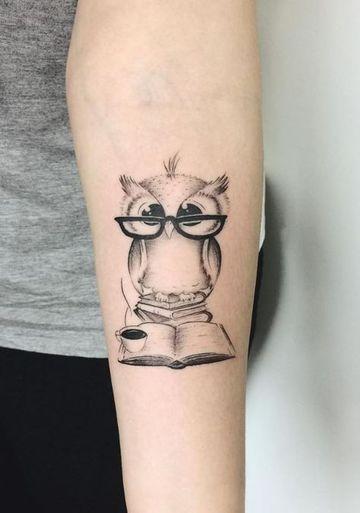 Disenos Simpaticos De Tatuajes De Buhos Para Mujeres