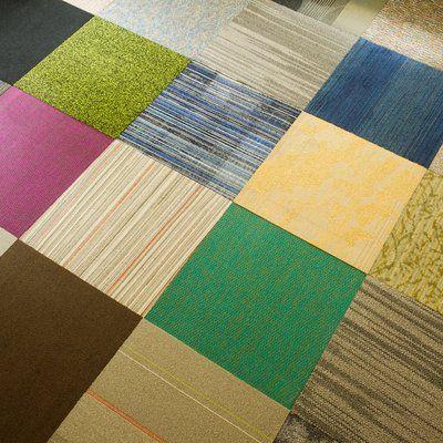 4urfloor Kaleidoscope 24 X 24 Carpet Tile In Assorted In 2019
