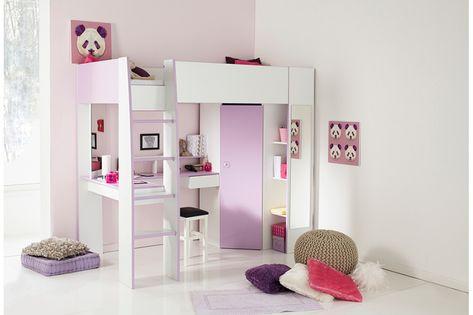 12 combos de lit mezzanine bureau pour la chambre de votre fille