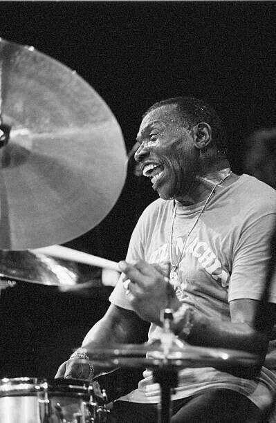 Drummer Elvin Jones performs on June 1991 at the BIM huis in Amsterdam, the Netherlands.