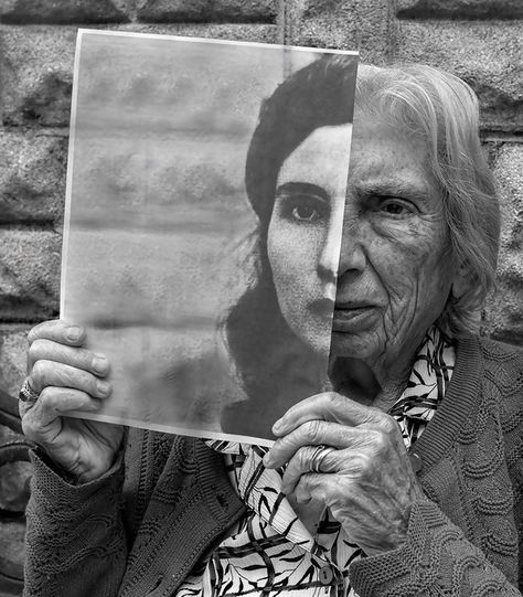 Growing old. The woman in the picture, and the subject of pretty much all of his beautiful photos, is the photographer's mom. Photography by Tony Luciani