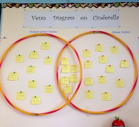 Venn Diagram Comparing Different Cinderella Stories For The Kids