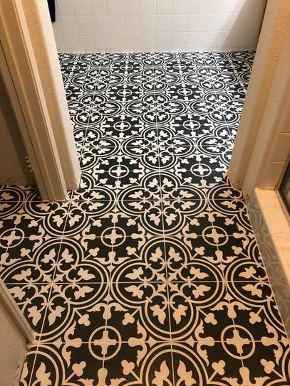 Merola Tile Arte Black Encaustic 9 3 4 In X 9 3 4 In Porcelain Floor And Wall Tile 10 76 Sq Ft Case F Porcelain Flooring Wall Tiles Floor And Wall Tile